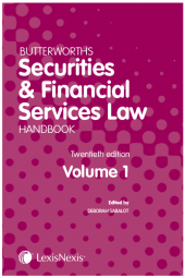 Butterworths Securities and Financial Services Law Handbook 20th edition cover