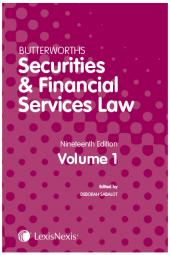 Butterworths Securities and Financial Services Law Handbook 19th edition cover