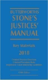 Butterworths Stone's Justices' Manual 2018 cover