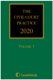 The Civil Court Practice 2020 (The Green Book)(Hardcopy, CD & eBook) cover