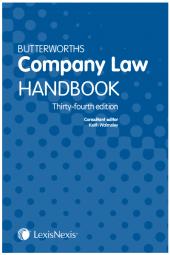 Butterworths Company Law Handbook 34th edition cover