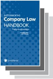 Butterworths Company Law Handbook 34th edition & Tolley's Company Law Handbook Handbook 28th edition cover