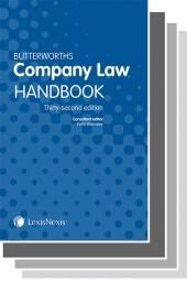 Butterworths Company Law Handbook 32nd edition and Company Secretary's Handbook 28th edition & Tolley's Company Law Handbook 26th edition cover