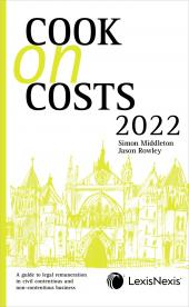 Cook on Costs 2022 cover