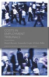 Costs in Employment Tribunals (Jordan Publishing Employment Law Series) Second edition cover