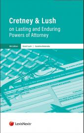 Cretney and Lush on Lasting and Enduring Powers of Attorney Eighth edition cover