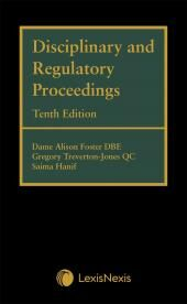 Disciplinary and Regulatory Proceedings Tenth edition cover