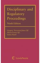 Disciplinary and Regulatory Proceedings Ninth edition cover