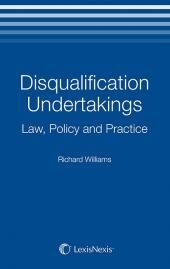 Disqualification Undertakings: Law, Policy and Practice cover