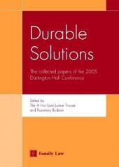 Durable Solutions: The Papers of the 2005 Interdisciplinary Conference at Dartington Hall cover