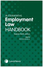 Butterworths Employment Law Handbook 29th edition cover