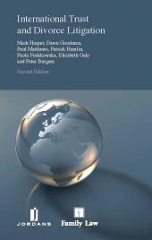International Trust and Divorce Litigation Second edition cover