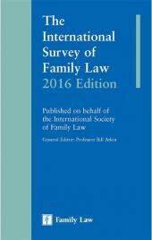 International Survey of Family Law: 2016 Edition cover