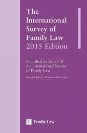 The International Survey of Family Law 2015 cover