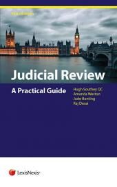 Judicial Review: A Practical Guide Third edition cover
