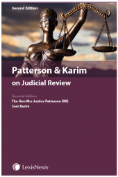 Patterson & Karim on Judicial Review Third edition cover