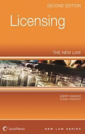 Licensing: The New Law Second edition cover