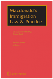 Macdonald's Immigration Law & Practice Ninth edition Brexit Special Report Supplement 2019 cover