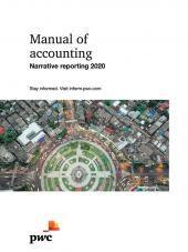 Manual of accounting - Narrative reporting 2020 eBook cover