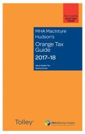 MHA MacIntyre Hudson's Orange Tax Guide 2017-18 cover