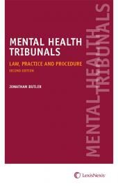 Mental Health Tribunals Law, Practice and Procedure Second edition cover