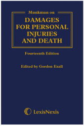 Munkman Damages For Personal Injuries and Death 14th edition cover