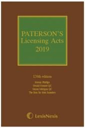 Paterson's Licensing Acts 2019 including CD-ROM cover