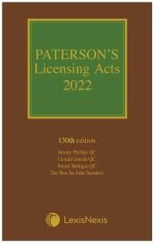 Paterson's Licensing Acts 2022 including CD-ROM cover