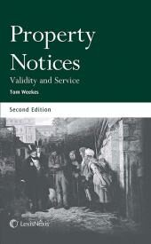 Property Notices: Validity and Service Second edition cover