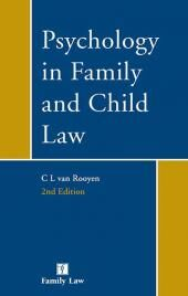 Psychology in Family and Child Law 2nd edition cover