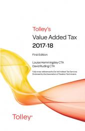 Tolley's Value Added Tax 2017-18 (includes First and Second editions) cover