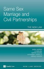 Same Sex Marriage and Civil Partnerships: The New Law cover