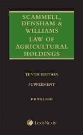 Scammell, Densham & Williams Law of Agricultural Holdings 10th edition, Mainwork and Supplement Set cover
