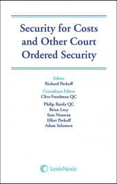 Security for Costs and Other Court Ordered Security cover