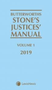 Butterworths Stone's Justices' Manual 2019 cover