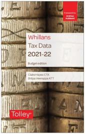 Whillans Tax Data 2021-22 (Budget edition) cover