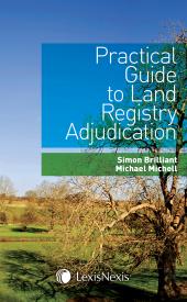 Practical Guide to Land Registry Adjudication cover