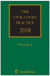 The Civil Court Practice 2018 (The Green Book)(Hardcopy, CD & eBook) cover