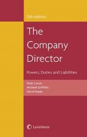 The Company Director: Powers, Duties and Liabilities 12th edition cover