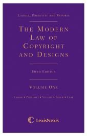 Laddie, Prescott and Vitoria: The Modern Law of Copyright Fifth edition cover