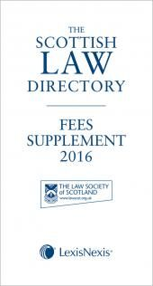 The Scottish Law Directory: The White Book: Fees Supplement 2016 cover