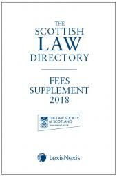 The Scottish Law Directory: The White Book: Fees Supplement 2018 cover