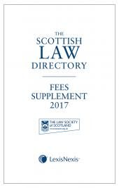 The Scottish Law Directory: The White Book: Fees Supplement 2017 cover