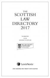 The Scottish Law Directory: The White Book 2017 126th edition cover