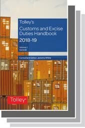 Tolley's Customs and Excise Duties Handbook 2018-2019 cover