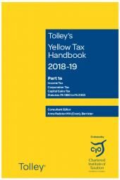 Tolley's Yellow Tax Handbook 2018-19 cover