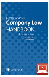 TolleyLibrary Light Butterworths Company Law Handbook 31ed and Print cover