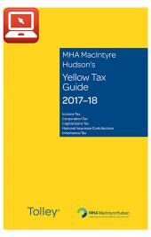 TolleyLibrary Light MHA MacIntyre Hudsons Yellow Tax Guide 2017-2018 and Print Set cover
