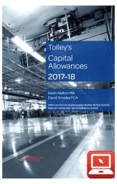 TolleyLibrary Light Tolley's Capital Allowances 2017 and Print cover