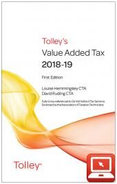 TolleyLibrary Light Tolley's Value Added Tax 2018 and Print cover